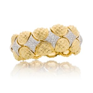 Diamond and Gold Bracelet. Handmade and Handcrafted Jewelry by Sal Praschnik Jewelry