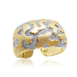 Unique Fine Jewelry Cuff Design by Praschnik Fine Jewelers Miami