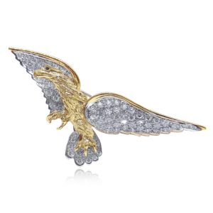 Creations of Nature eagle Pin Praschnik Fine Jewelry Design Miami