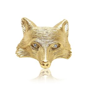 Creations of Nature fox Pin Praschnik Fine Jewelry Design Miami