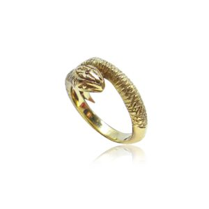 Snake Tuscana Gold Ring Praschnik Fine Jewelry Design Miami