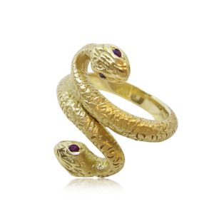 Tuscana Gold Snake Ring Praschnik Fine Jewelry Design Miami