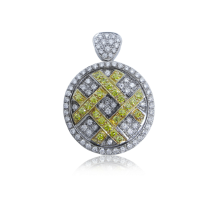 Unique Fine Jewelry Gold and Diamond Pendant Design by Praschnik Fine Jewelers Miami